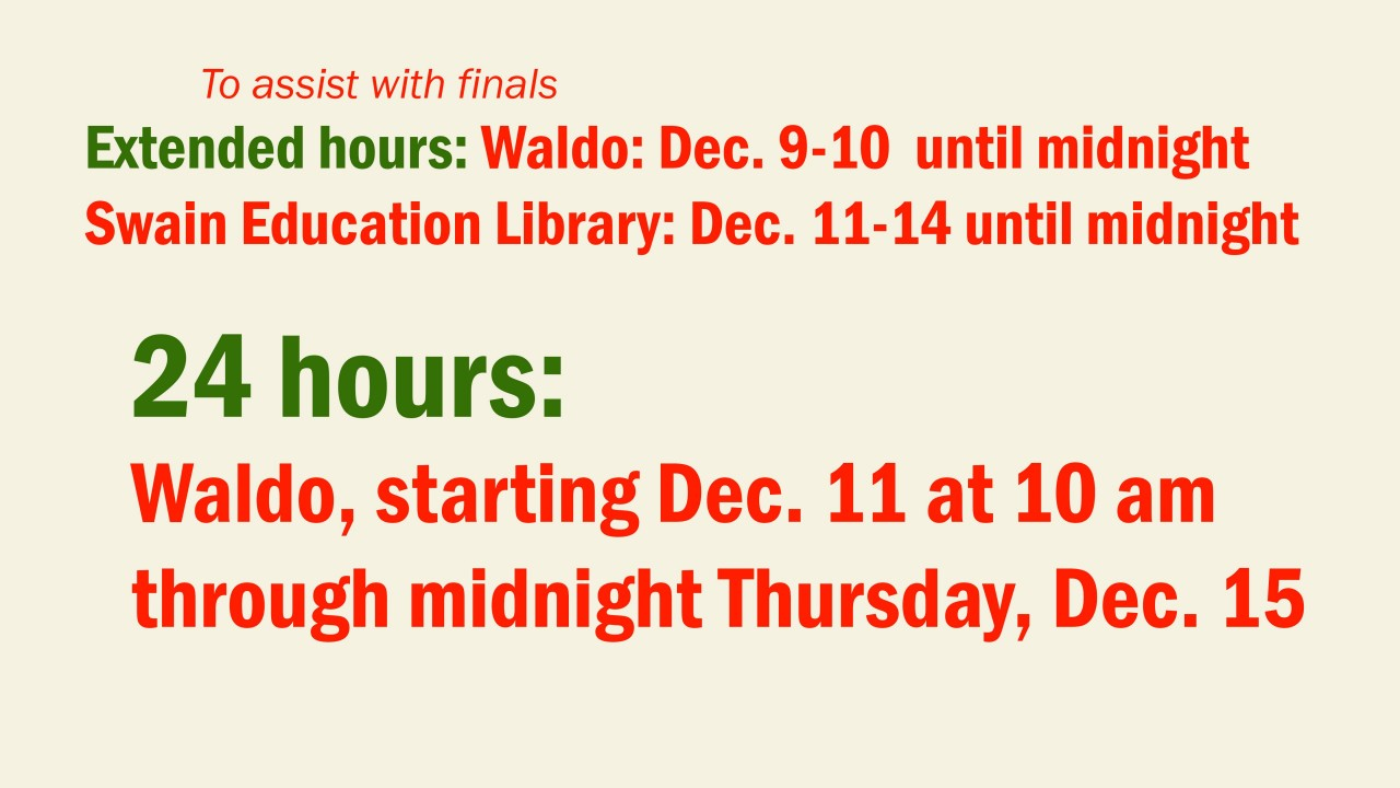 Image of Exam and Holiday hours of operation