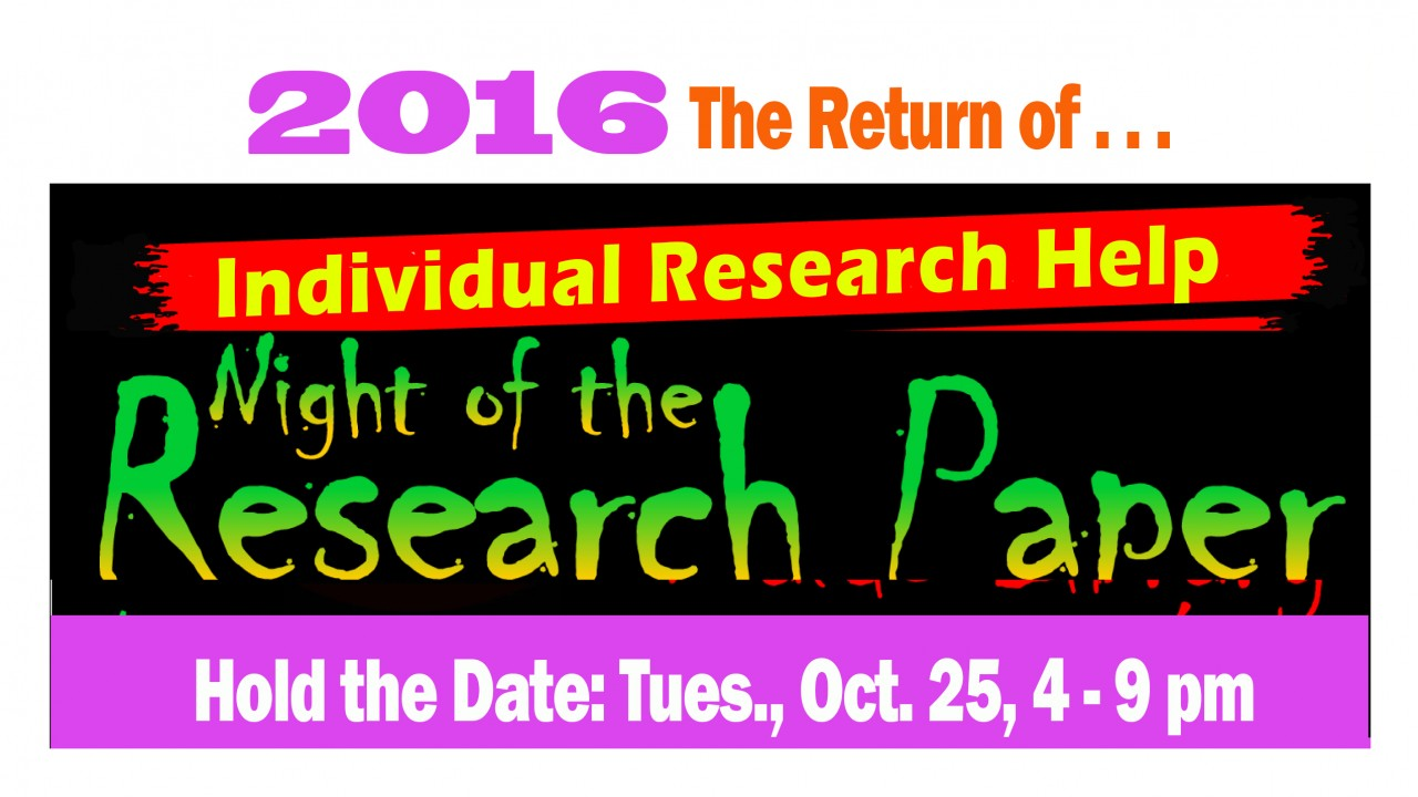 Promotional Image for Research Night 2016