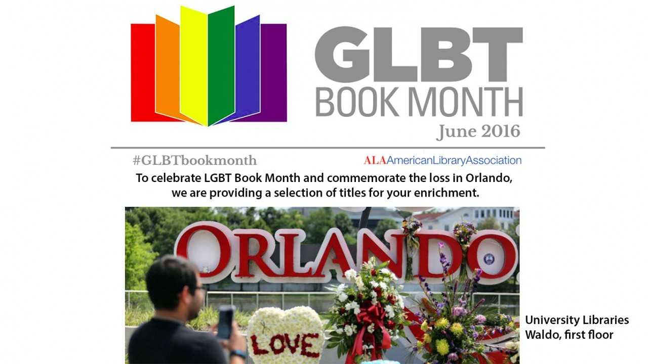 University Libraries Celebrate LGBT Book Month