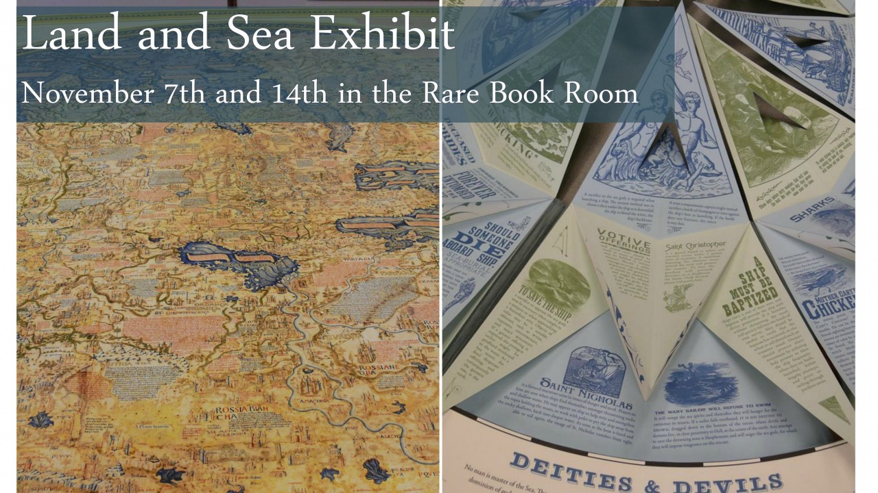 Image of Rare Book Room's Land and Sea Exhibit