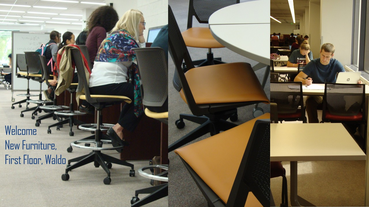 Image of new furniture in Waldo Library