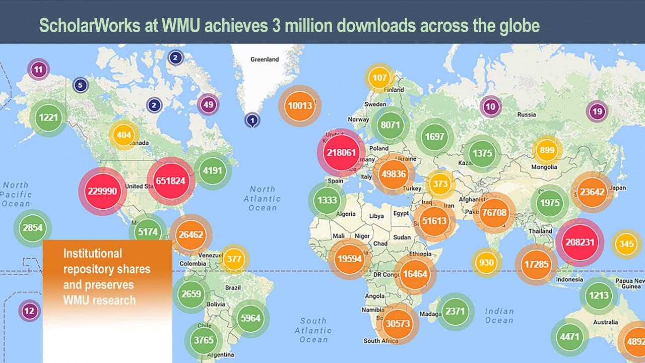 Image for Scholarworks 3 Million Downloads