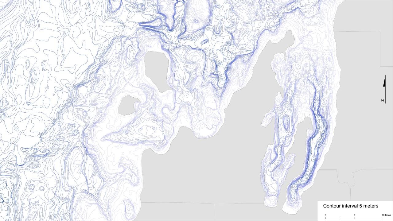 Image showing bathymetry of Leelanau Penninsula