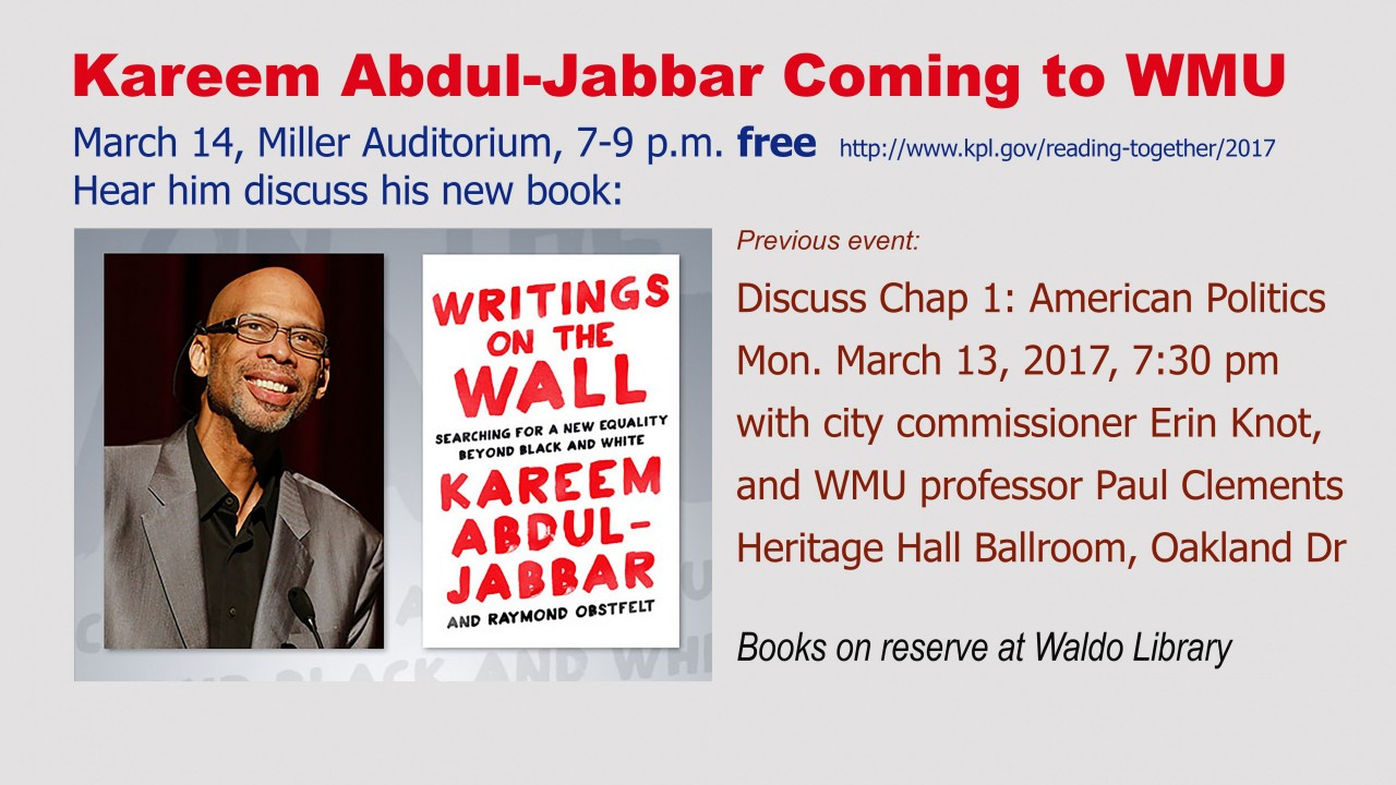 Image promoting Kareem Abdul-Jabbar Reading Together event