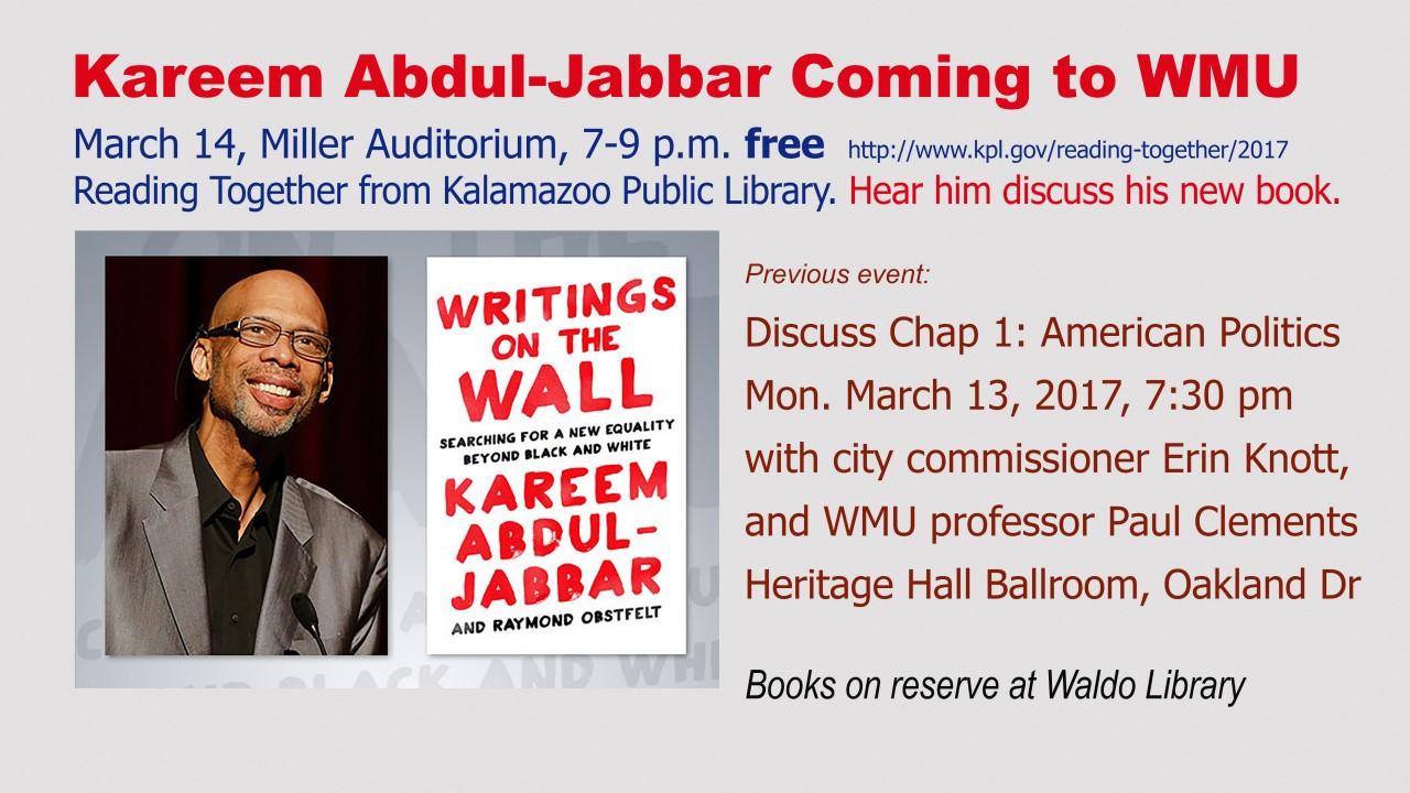 Image for Kareem Abdul-Jabbar Reading Together