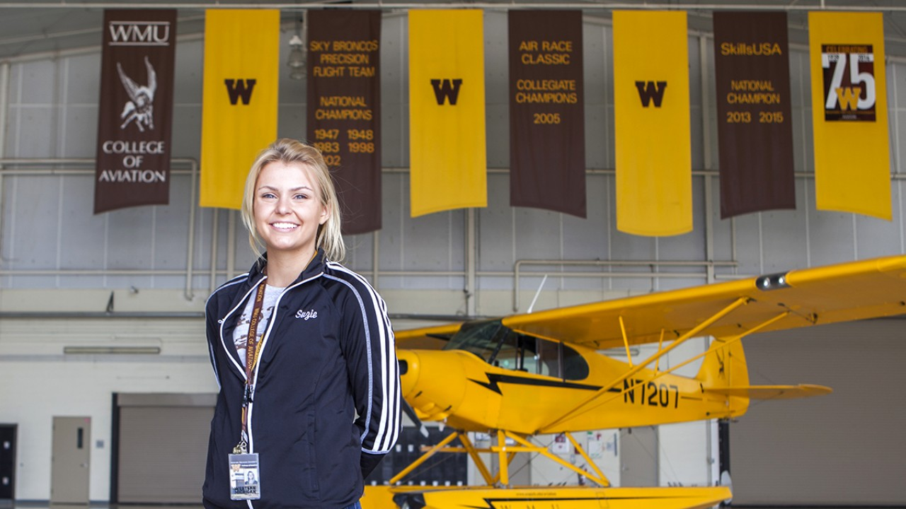 Aviation Student with seaplane