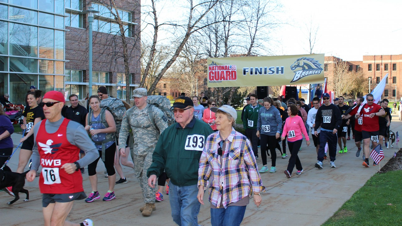 Community members participating in the Warrior 5K
