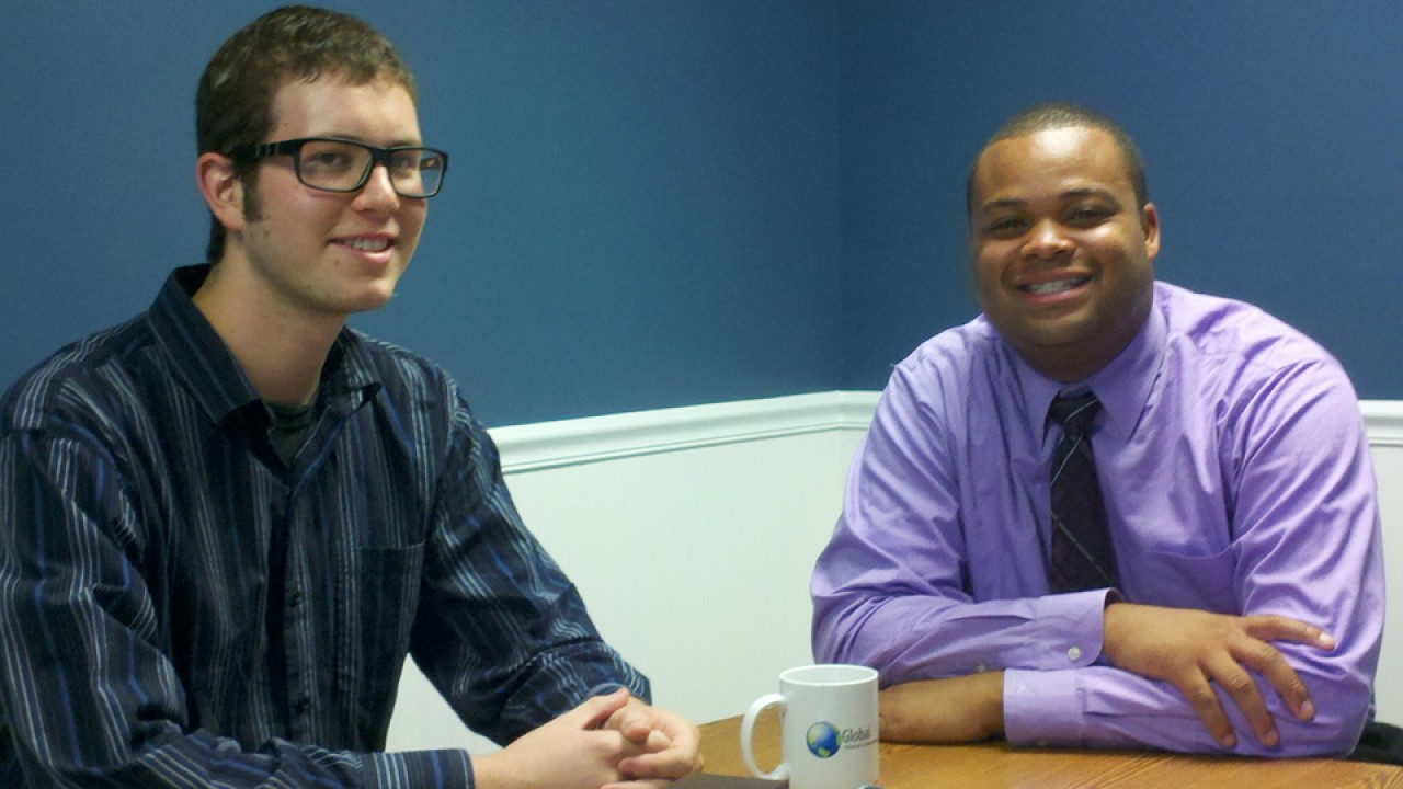 Photo of two interns at Global Clinical Connections