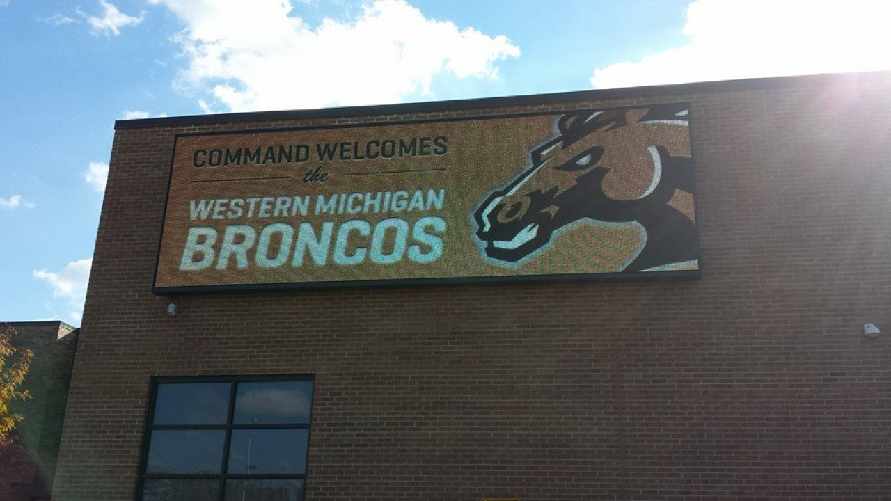Photo of Bronco sign at Command in Chicago