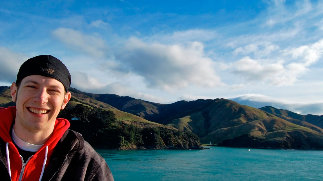 Photo of WMU student in New Zealand.