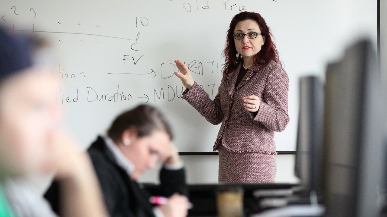 Photo of Yaman teaching.