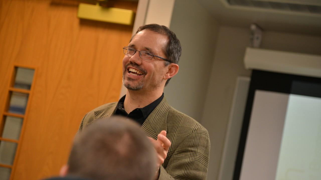 Photo of professor teaching