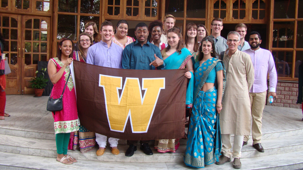 Student group in India