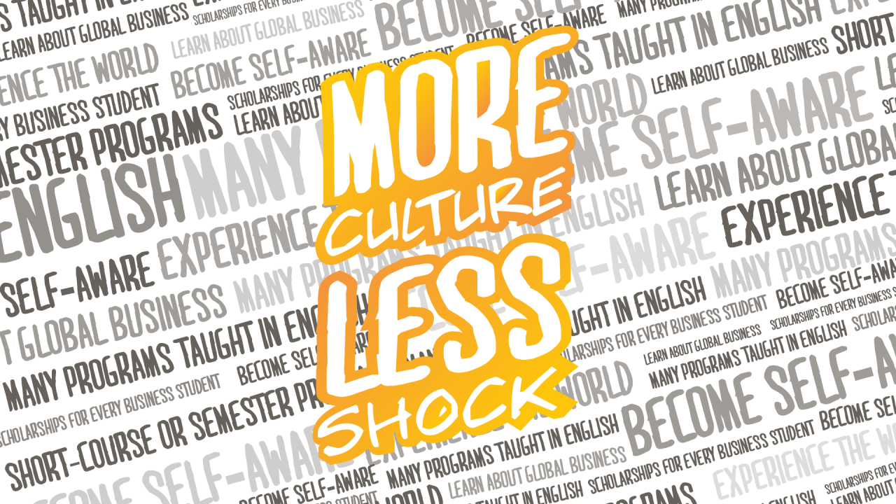 Study abroad graphics - More Culture Less Shock
