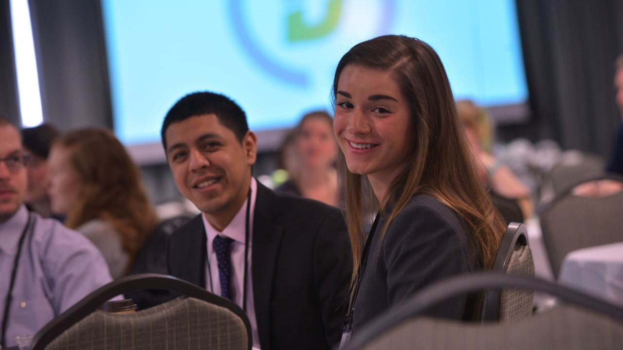 Students participating in conference