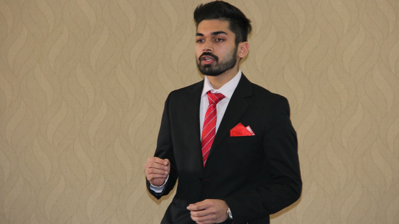 Patni was one of three MBA students invited to participate in Grad Talks 2017. He presented on the problems of using Bitcoin.