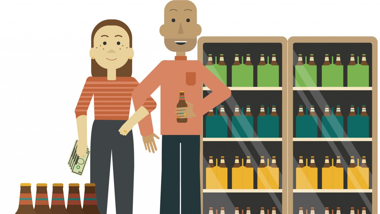 Graphic of craft beer shoppers