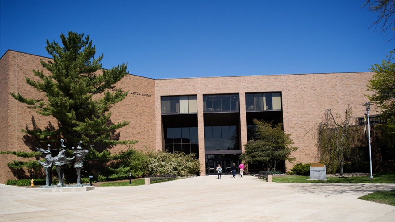 A front view of the Dalton Center
