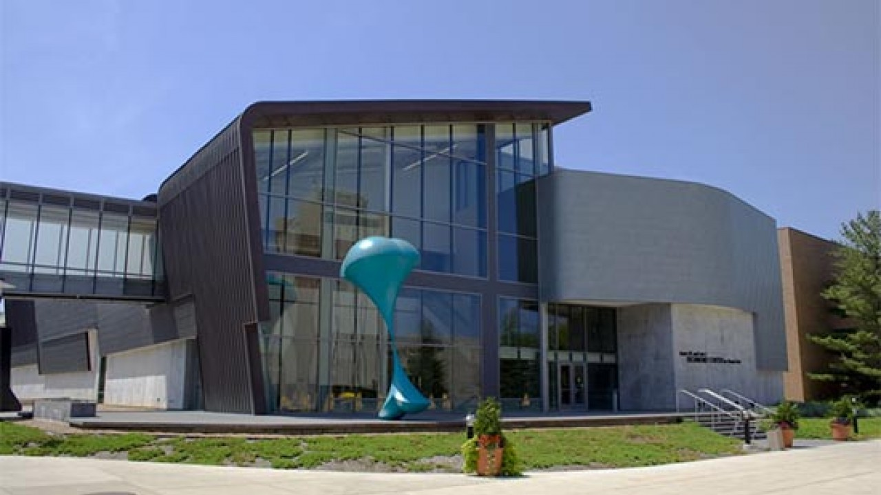 The front of the Richmond Center for Visual Arts.