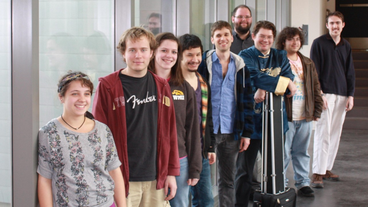 Photo of music composition students.