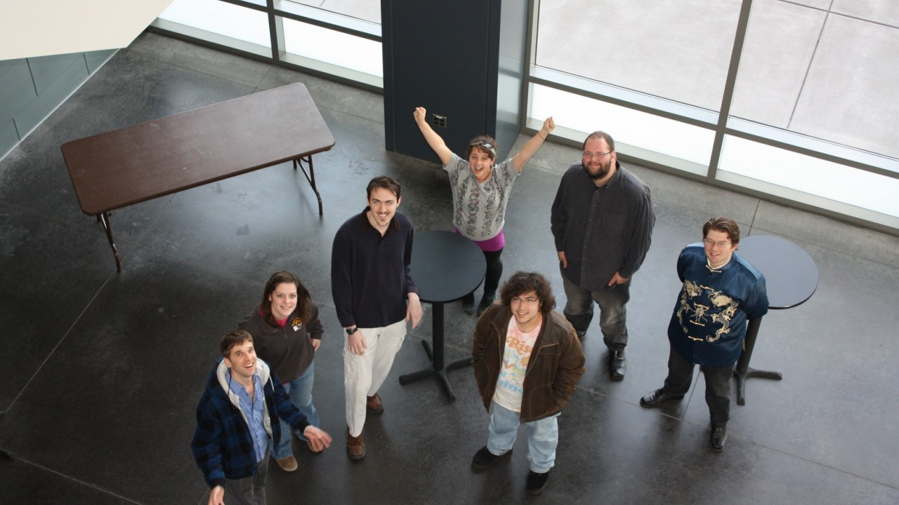 Group of composition students.