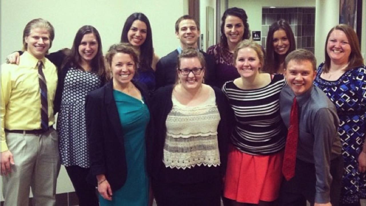Photo of mentors at 2013 winter banquet.