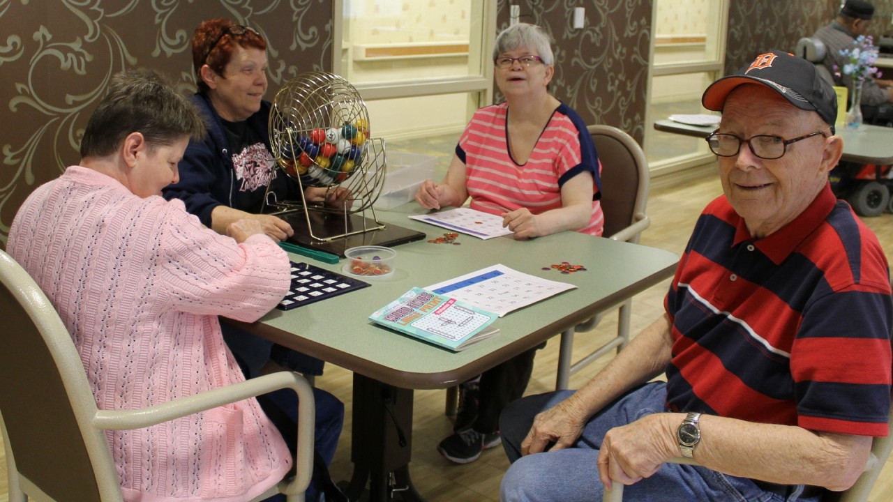 Photo of people playing bingo.