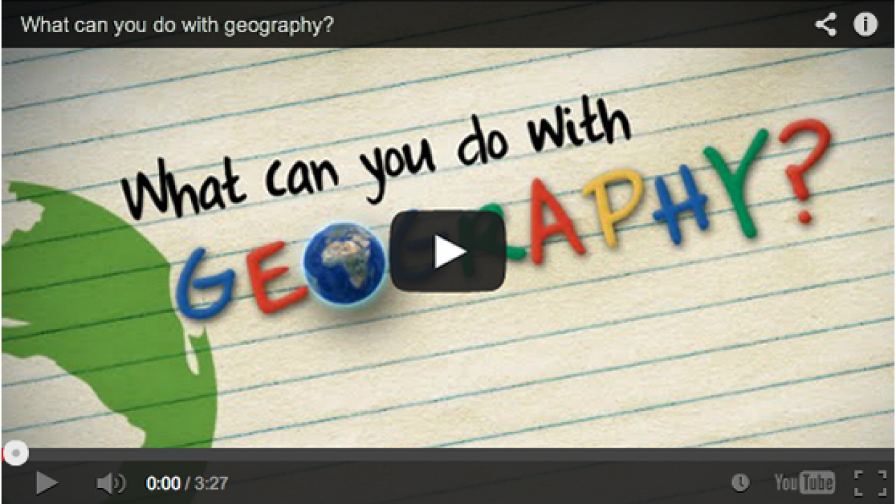 What can you do with geography? YouTube video