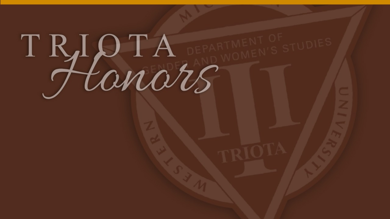 """image of honor society logo and words """"Triota Honors"""""""
