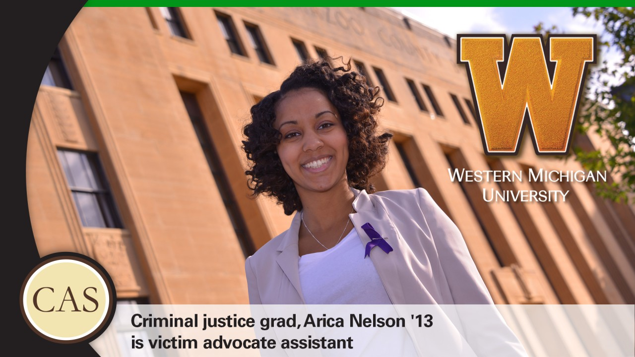 Arica Nelson, '13, victim advocate assistant