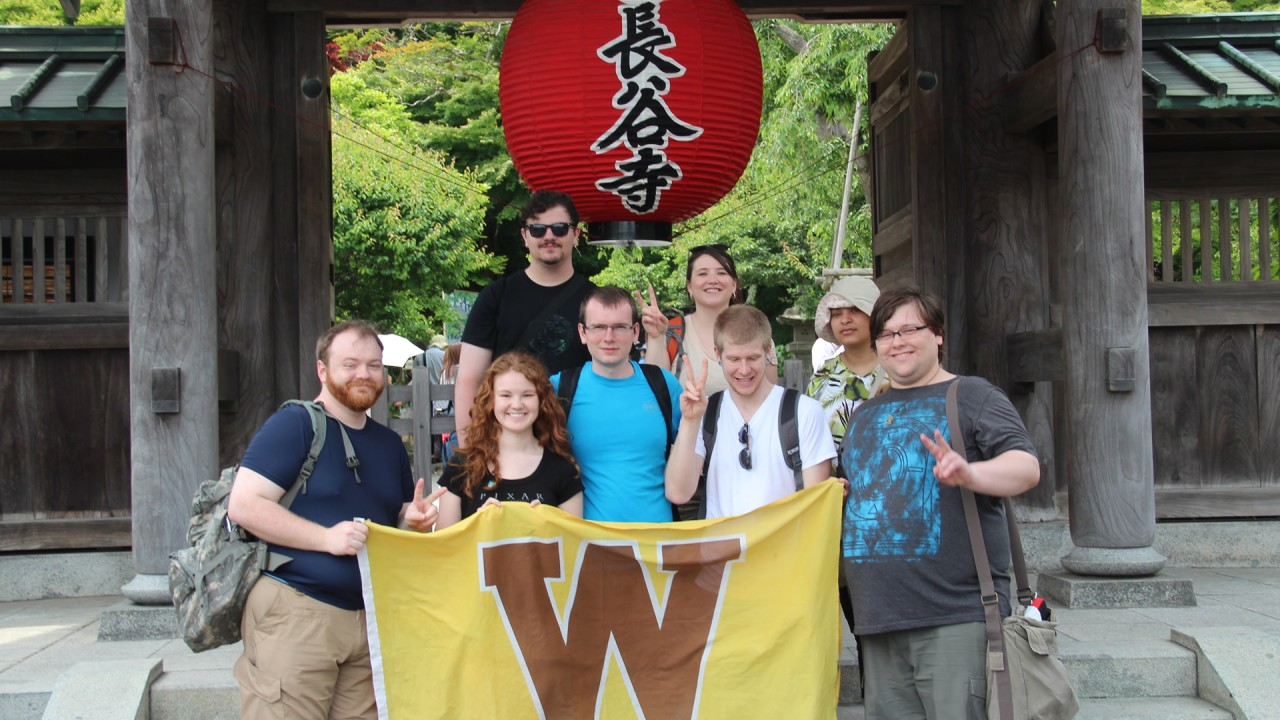 Study abroad students in Japan.