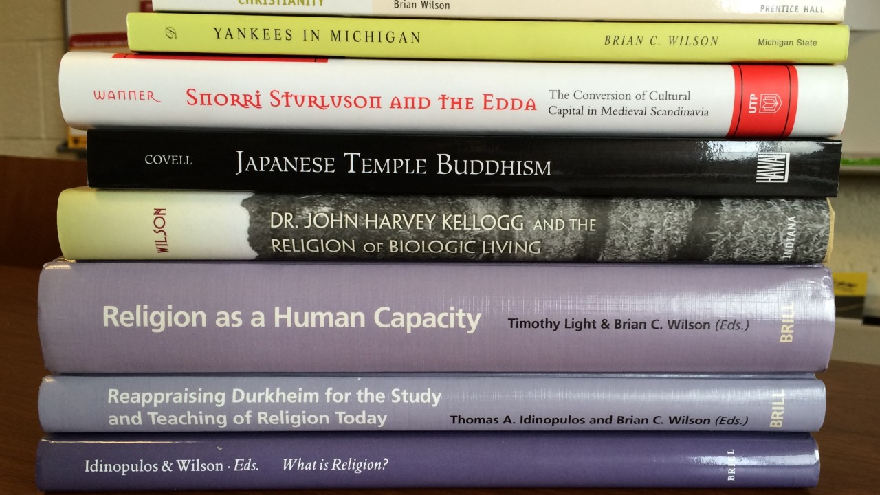 Books written by comparative religion faculty.