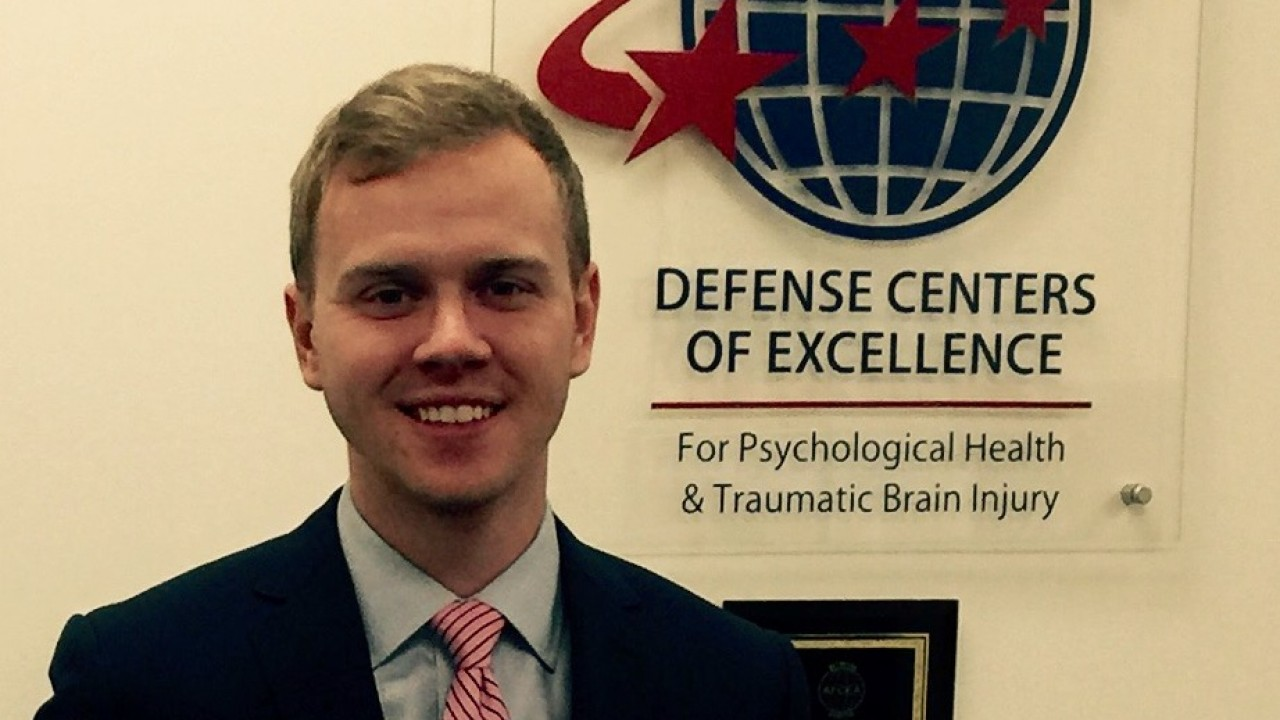 Evan Mayo '11 works for the Defense Centers of Excellence