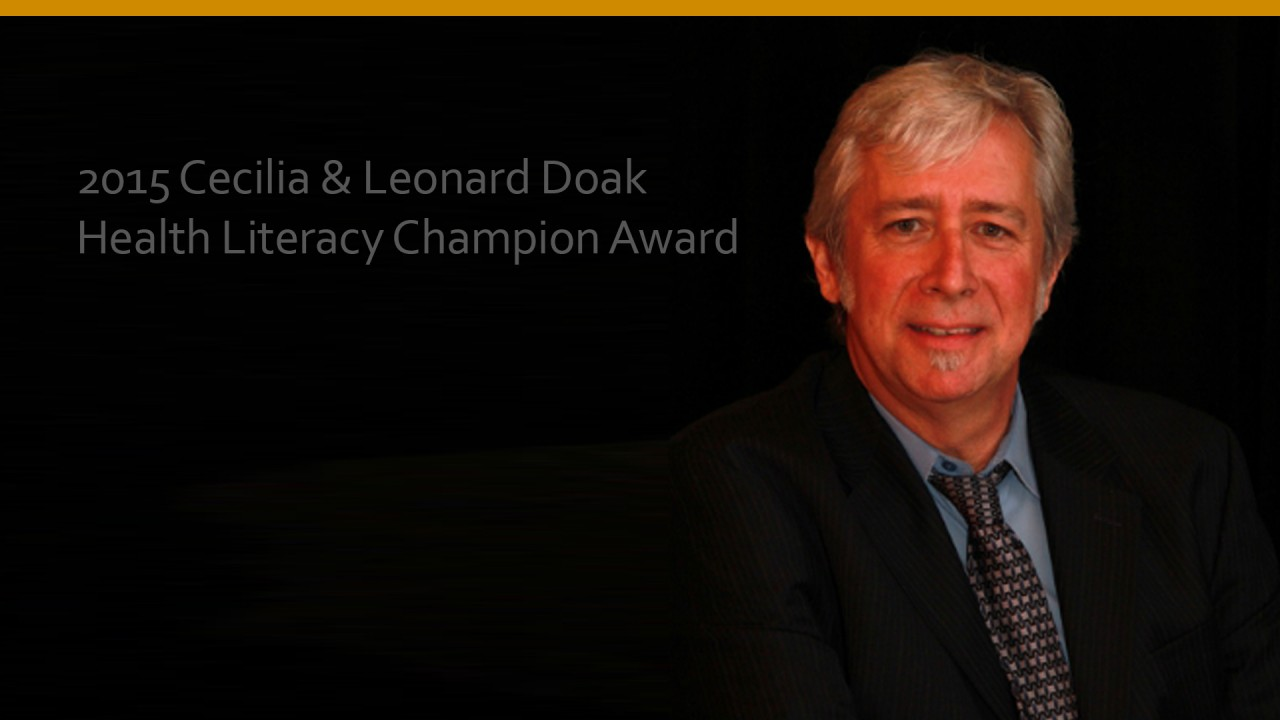 Michael Villaire, 2015 Cecilia & Leonard Doak Health Literacy Champion Award