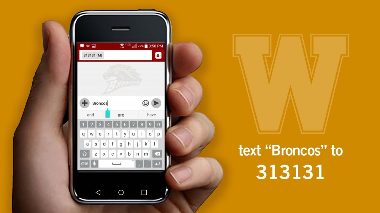 Text Broncos to 313131