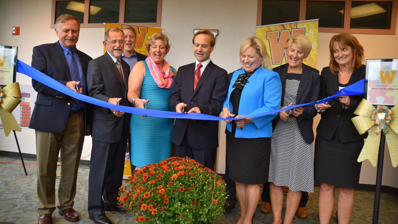 Autism Center ribbon cutting ceremony.