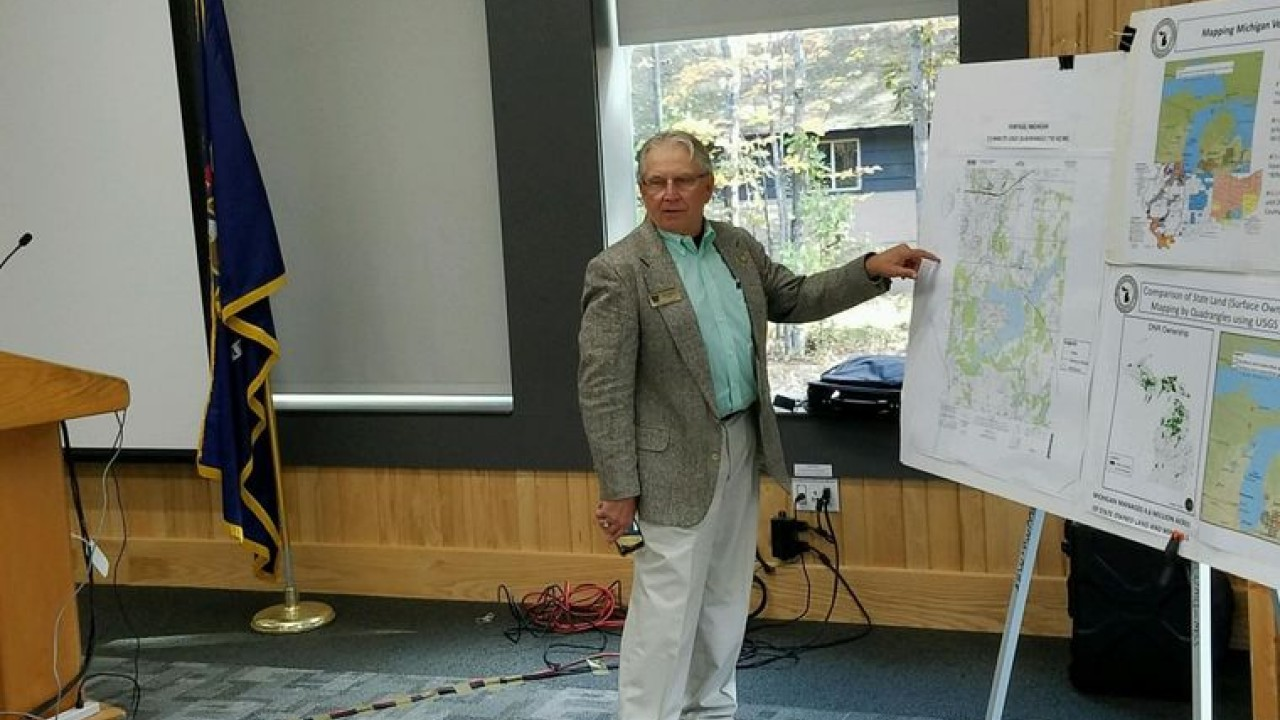 John Yellich points to maps