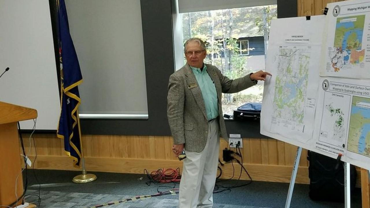 John Yellich points to maps