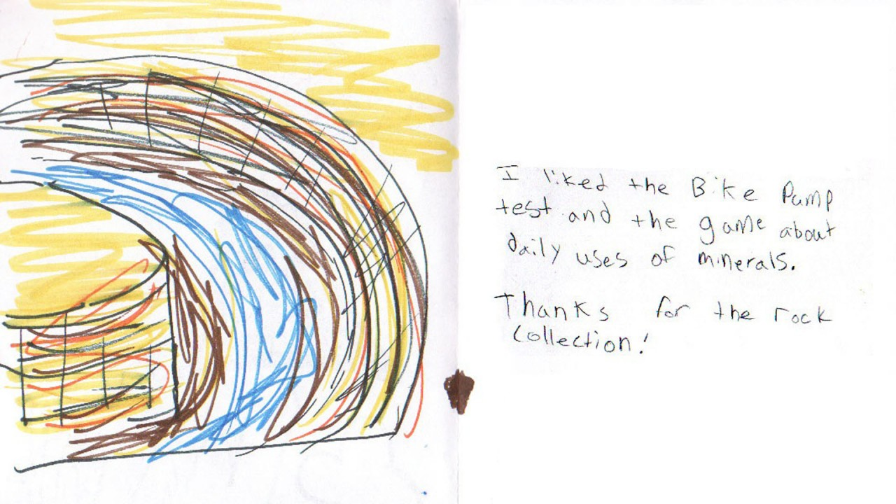 A child's drawing of the Grand Canyon