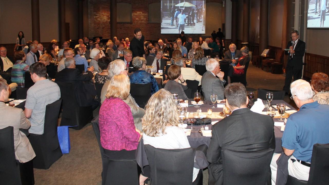 Alumni attend a gala