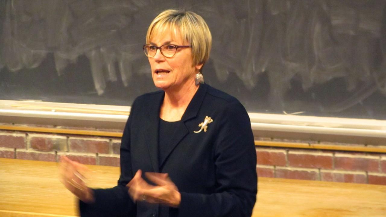 Dr. Julie Stein gives a seminar talk