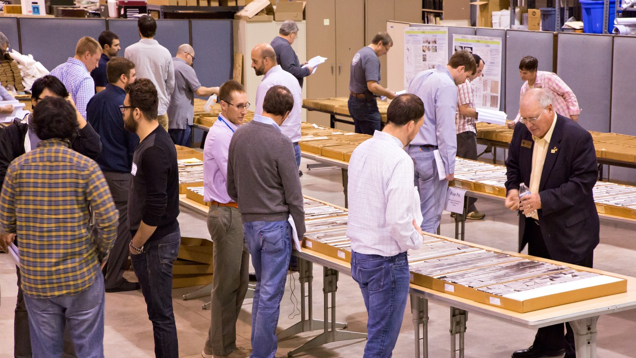 Industry members learn about cores at a PTTC workshop