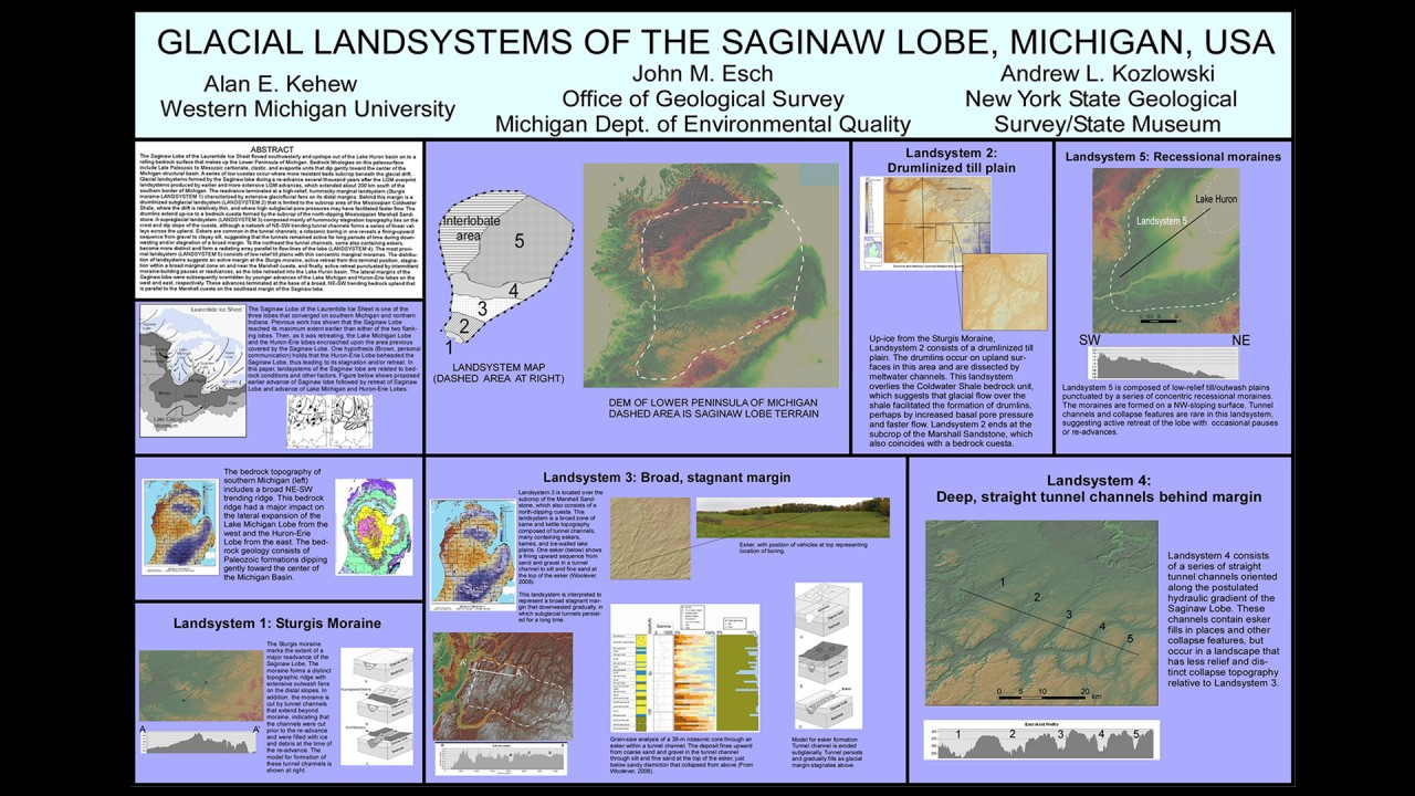 Glacial Geology And Mapping Michigan Geological Repository For