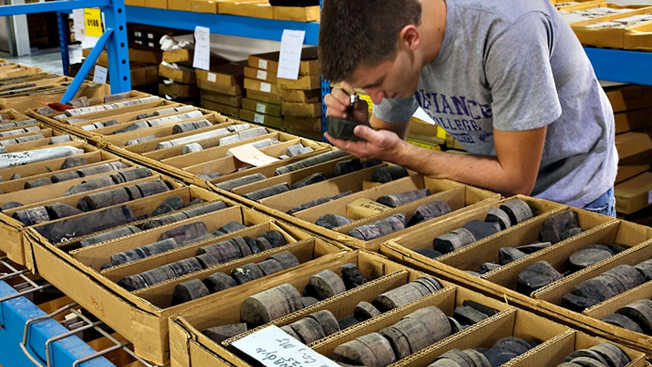 A former graduate student examples core samples