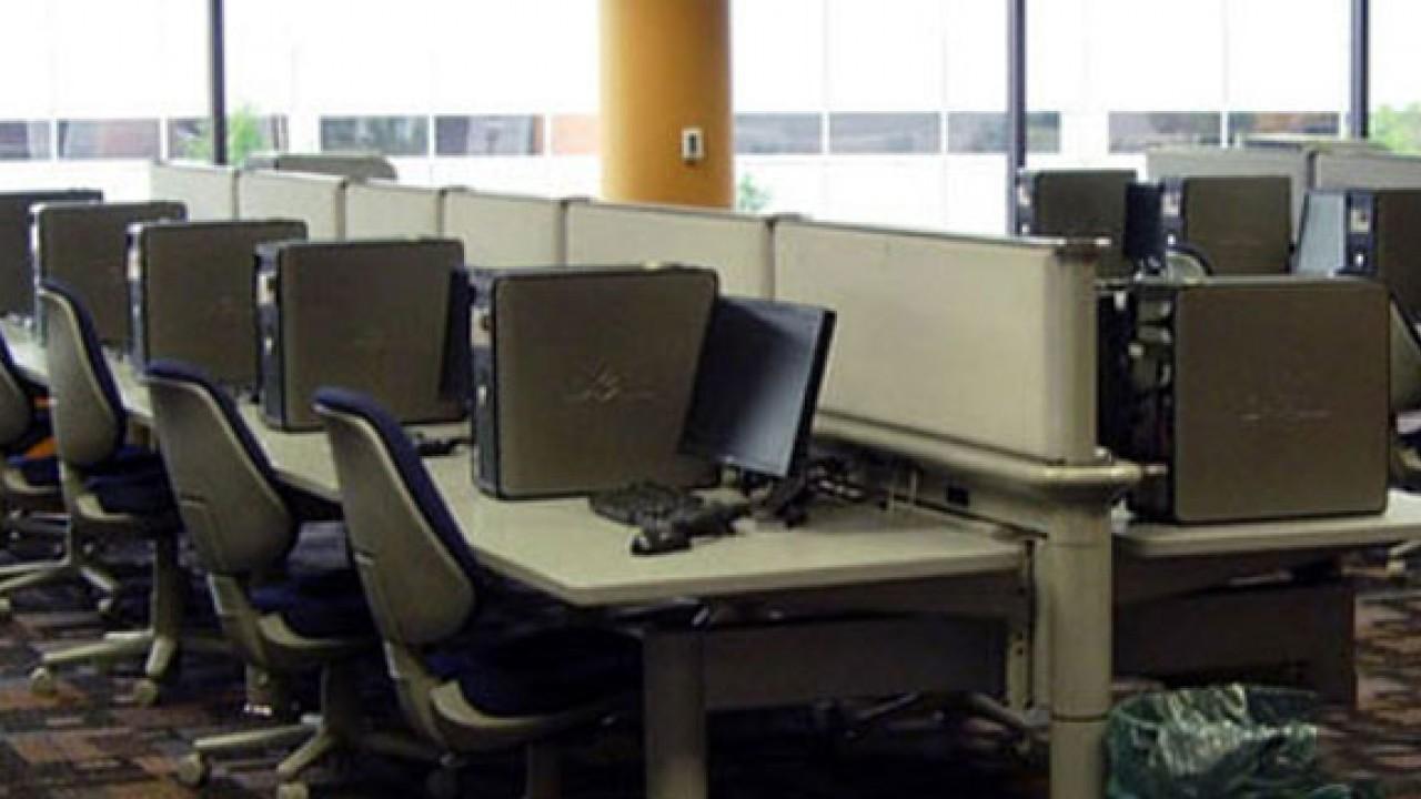 Photo of University Computing Center Lab in 2012.