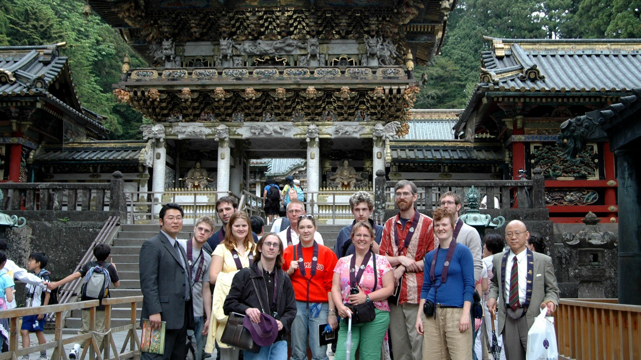 Study abroad group in Japan.