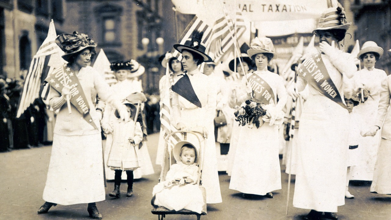 Photo from a New York City suffragist parade.