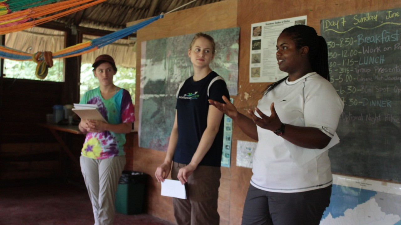 WMU students abroad teaching a lesson