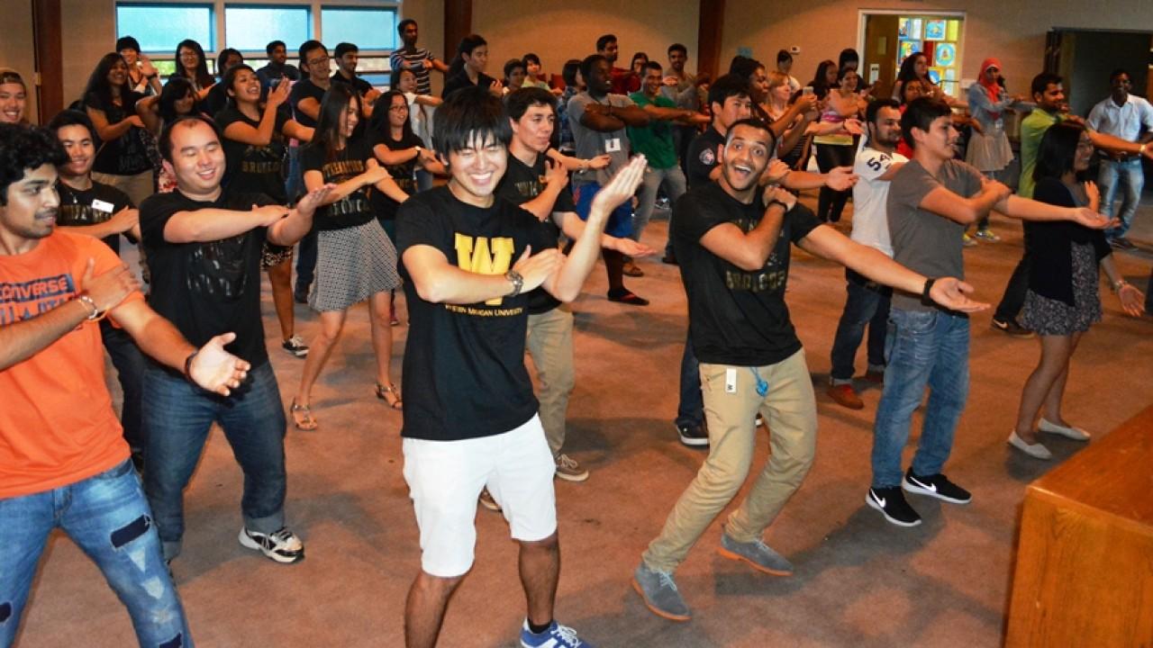WMU students dancing