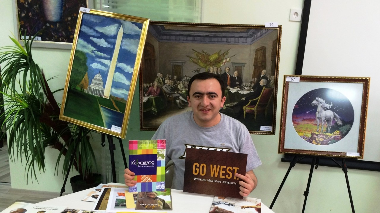 Orxan Abbasov, a Fulbright Fellow who attended Western Michigan University from 2012 to 2014